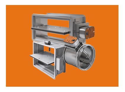 Клапаны ДУ для систем противодымной вентиляции